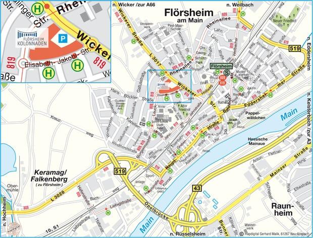 Anfahrt Mappe Flörsheim Kolonnaden